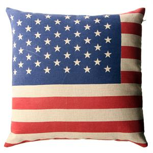Pude med USA flag, 45 x 45 cm