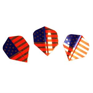 Amerithon dart flights med USA flag, 250µ