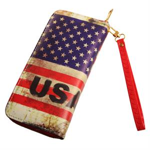 Pung / clutch med patineret USA flag