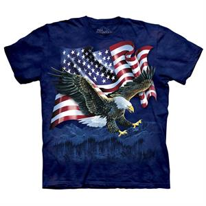 T-shirt med US flag and The American Bald Eagle