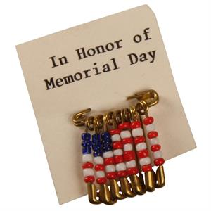 USA Memorial Day Pin