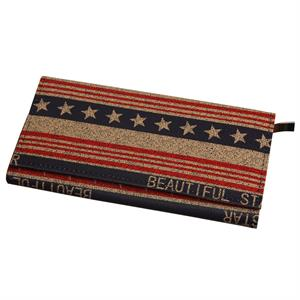 Stars and Stripes Clutch i patinerede farver