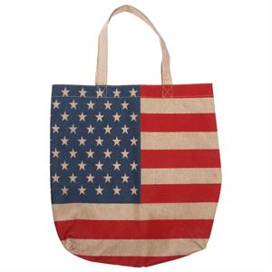 Shopping Bag med USA flag