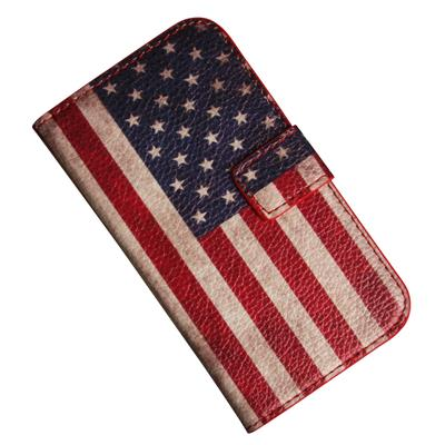 Samsung Galaxy S3 mini  i8190 i kunstlæder med USA flag