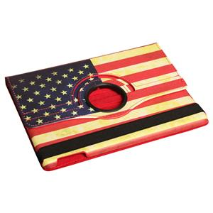 iPad Air cover med patineret USA flag