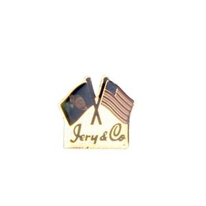 Pin med USA flag og Jery & Co