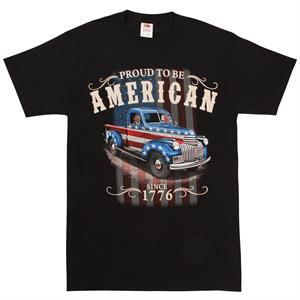 T-shirt, Truck med Stars and Stripes