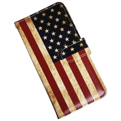 iPhone 8 Plus Luksusetui i kunstlæder med USA flag