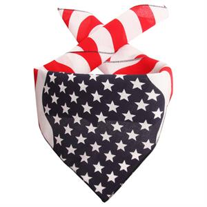 Scarf med bølgende Stars and Stripes - Made in USA