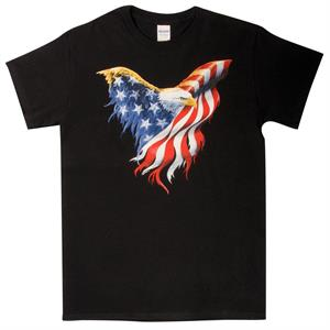 The Bald Eagle t-shirt med USA flag