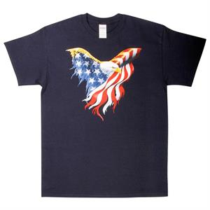 T-shirt med Stars and Stripes Ørn