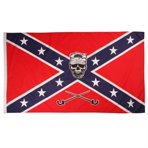 Confederate Flag med Soldier Scull 150x90cm