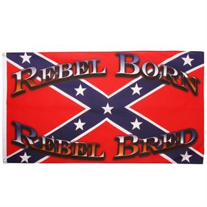 Confederate flag, Rebel Born, Rebel Bred, 90 x 150 cm