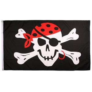 Pirat Flag - One Eyed Jack, 90 x 150 cm