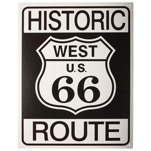 Stor Route 66 metalskilt