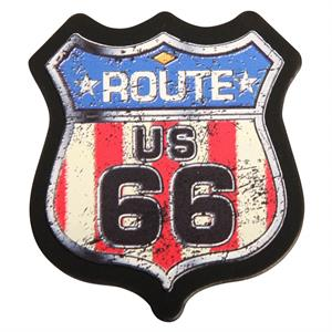 Magnet med Route 66 Stars and Stripes motiv - Made in USA